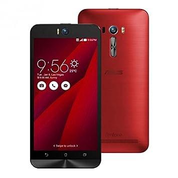 Asus ZenFone 2 5.5'' Selfie Smartphone débloqué 4G (Ecran: 5,5 Pouces - 32 Go - 3 Go RAM - Double SIM - Android 5.0 Lollipop) Rouge