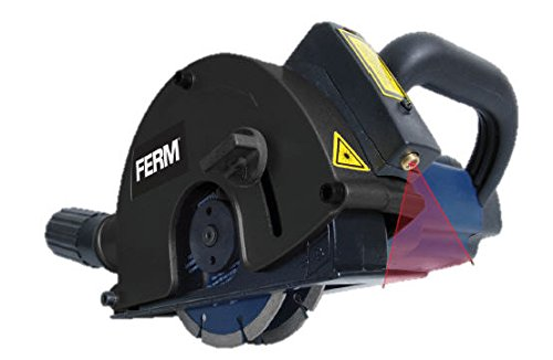 FERM-WSM1009-Mauernutfrse-Schlitzfrse-1700W-2-Diamantscheiben-125mm-Laserfrhrung-Staubabsaugungsadapter-Koffer