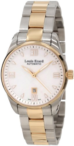 Louis Erard Women's 20100AB24.BMA20 Heritage Automatic Mother of Pearl Dial Steel and Rose Gold PVD Watch