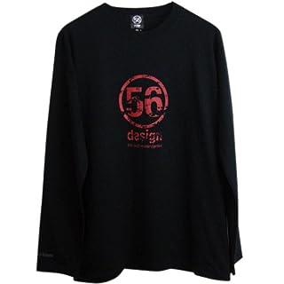 56design(フィフティーシックスデザイン) Scratche Logo Long Tee(スクラッチロゴロングティー) ブラック×レッド Mサイズ