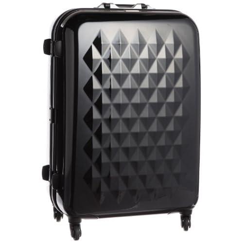 [アーベーベー] A.V.V フレームタイプダイヤ柄デザインスーツケースLサイズ93L 55302 BK (ブラック)