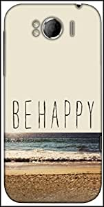Snoogg Be Happy Designer Protective Back Case Cover For HTC Sensation Xl