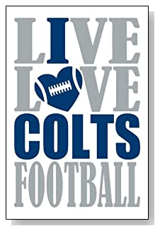 Live Love I Heart Colts Football lined journal - any occasion gift idea for Indianapolis Colts fans from WriteDrawDesign.com