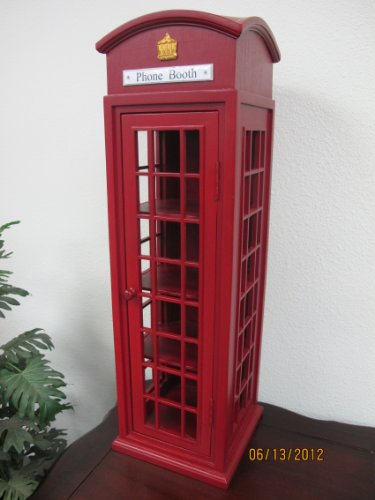D-ART COLLECTION Mahogany London Telephone Display Case, Mini