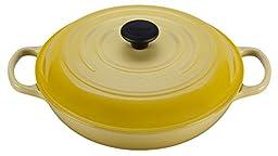 Le Creuset Signature Enameled Cast-Iron 3-3/4-Quart Round Braiser, Soleil