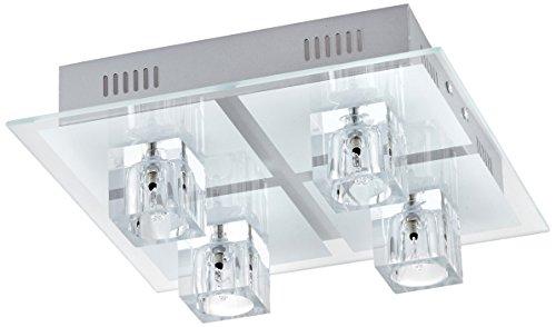 Paul Neuhaus 4-flammige Deckenleuchte Oki mit RGB-LEDs, Fernbedienung, Farbwechsel 50285-17