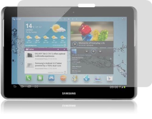 Sale!! amFilm (TM) Premium Screen Protector Film Clear (Invisible) for Samsung Galaxy Tab 2 (10.1-In...