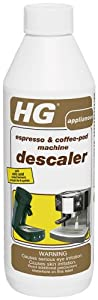HG International 323050112 Espresso and Coffee Pod Machine Descaler/Decalcifier, 16.9-Ounce, 500ml from HG International
