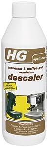 HG International 323050112 Espresso and Coffee Pod Machine Descaler/Decalcifier, 16.9-Ounce, 500ml
