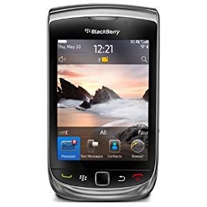 Blackberry Torch 9800 Unlocked Phone with 5 MP Camera, Full QWERTY Keyboard and 4 GB Internal Storage - Unlocked Phone - No Warranty - Black