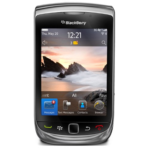 Blackberry 9800 Torch Unlocked 3G Phone with 5 MP Camera, Wi-Fi, Bluetooth, Blackberry OS 6.0 and GPS--International Version with Warranty (Black)