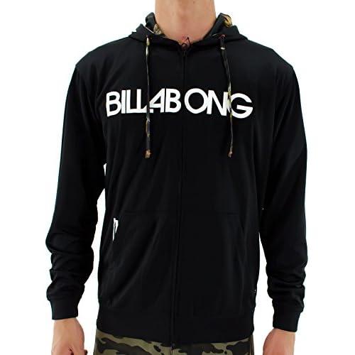 ビラボン(BillaBong) RASH ZIP HOOD 長袖 ラッシュガード AE011-858 BLK L