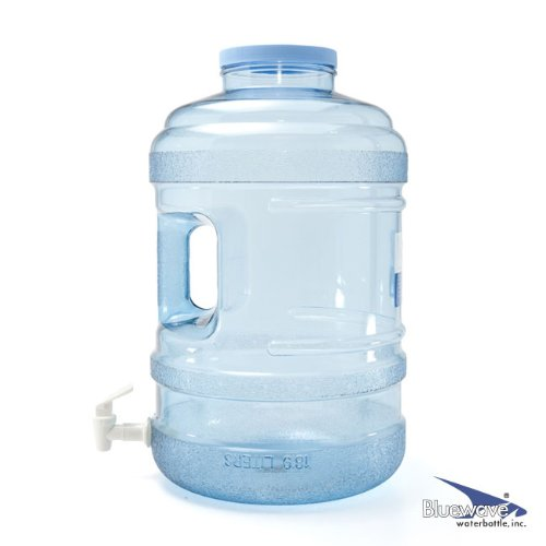 Bluewave Lifestyle BPA Free Water Bottle with Big-Mouth & Dispensing Valve, 5 gallon (5 Gallon Water Jug Bpa compare prices)