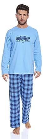 Cornette Hommes Ensemble de Pyjama CR-124-Cadillac (Bleu, XL)