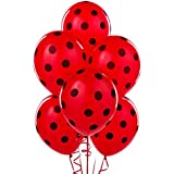 Mayflower Distributing Red With Black Polka Dots Latex Balloons