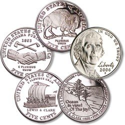 2004,2005,2006 Jefferson Nickel-westward Journey Series - 1
