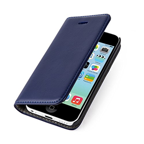 iphone-5c-case-jammylizard-leather-swiss-wallet-flip-cover-navy-with-integrated-magnetic-closure