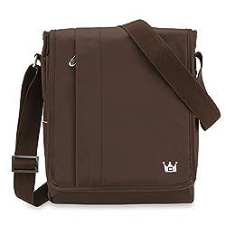 CaseCrown Vertical Mobile Messenger Bag (Brown) for Dell Venue 11 Pro