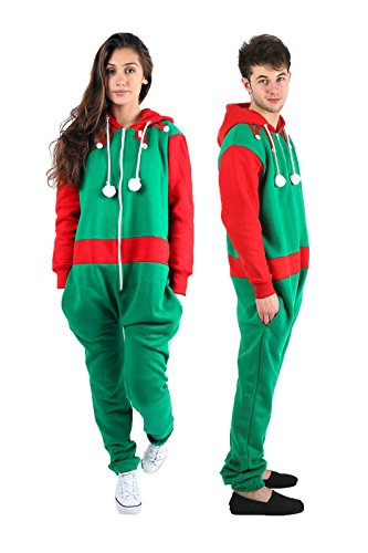 New-Ladies-Mens-Elf-Santa-Christmas-All-One-Unisex-Novelty-Onesie-Plus-Size-S-XXXXXL