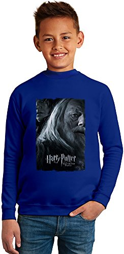 Harry potter dumbledore snape Superb Quality Boys Sweater by TRUE FANS APPAREL - 50% Cotton & 50% Polyester- Set-In Sleeves- Open End Yarn- Unisex for Boys and Girls 4-5 years