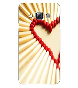 SAMSUNG GALAXY A3 MATCHSTICK HEART Back Cover by PRINTSWAG