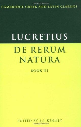 Lucretius: De Rerum Natura Book 3 (Cambridge Greek and...