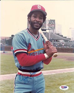 OZZIE SMITH AUTOGRAPHED 8 X 10 CARDINALS PHOTO BATTING PSA  DNA by Bud