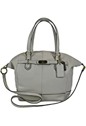 Coach Chelsea Leather Emerson North/South Satchel 17847 (Parchment)