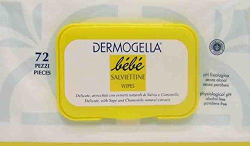 12 x DERMOGELLA BEBE' Salviettine Detergenti 72 Pezzi