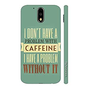 Enthopia Designer Hardshell Case Need Caffeine Back Cover for Motorola G4 Play