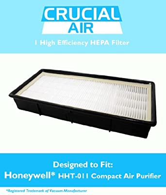 Honeywell HHT-011 Air Purifier HEPA Filter with Odor Control Carbon, Fits Honeywell Models HHT-011, HHT-080, HHT-081, HHT-090, HHT-100, HHT-145, HHT-149, HHT-085, Replaces Part # 16200, 16216, HRC1, HRF-C1, HRFC1, HAPF30, HAPF30D, 30LB1620XB2, N.0101, Des