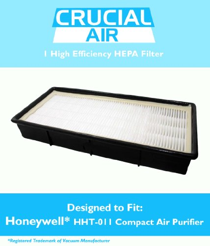 Honeywell HHT-011 Air Purifier HEPA Filter with Odor Control Carbon, Fits Honeywell Models HHT-011, HHT-080, HHT-081, HHT-090, HHT-100, HHT-145, HHT-149, HHT-085, Replaces Part # 16200, 16216, HRC1, HRF-C1, HRFC1, HAPF30, HAPF30D, 30LB1620XB2, N.0101, Designed & Engineered by Crucial Air
