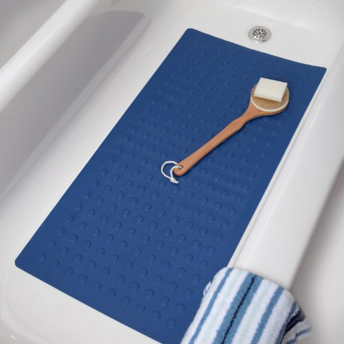 """Large Rubber Safety Mat - Blue,36"""" Long X 18"""" Wide front-29973"""