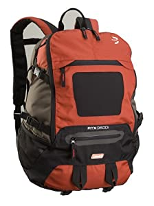 Coleman RTX 3500 35L Backpack with Laptop Pocket (Dark Grey/Red)