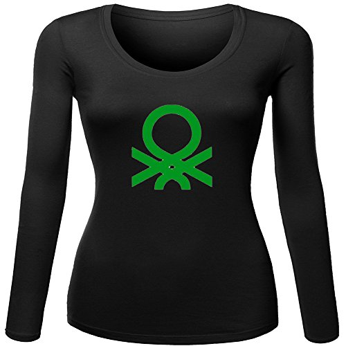 Benetton Logo Fashion For Ladies Womens Long Sleeves Outlet
