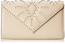 Aldo Asumcia Envelope Clutch Bag, Bone, One Size