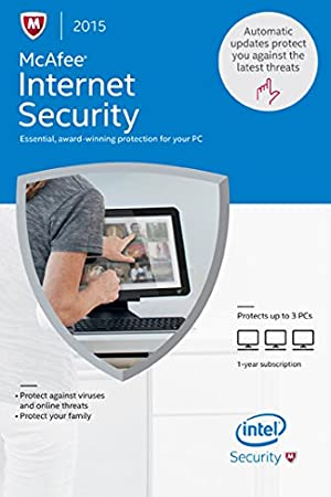 McAfee Internet Security 2015 - 3 PCs [Online Code]