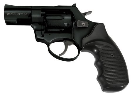 Viper 9mm Black Blank Firing Revolver - 2.5
