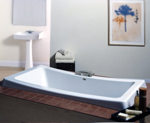 Jacuzzi ba06959wh allusion acrylic 72 inch by 36 inch by for Best soaker tub for the money
