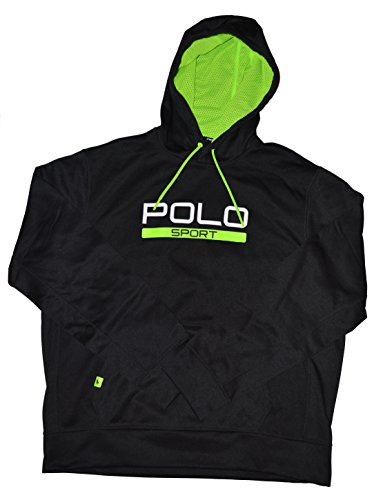 Polo Ralph Lauren Sport Men's Tech Fleece Hoodie Sweatshirt (X-Large, Polo Black)