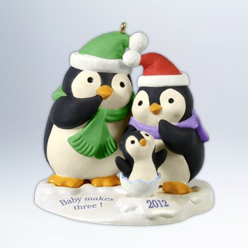Hallmark 2012 Baby Makes Three Keepsake Ornament - 1