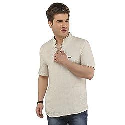 Attila Men's Casual Shirt (1106412502_Beige_38)