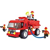 Fire Truck Emergency Series Building Blocks 180pcs Play Set Vehicle Rush And Rescue The Burning State City With...