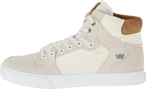 Supra Unisex Vaider Off White/Tan/White Sneaker Men's 11 D – Medium
