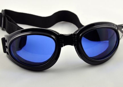 Blue Lens Goggles Sunglasses Goth Anime Cosplay Biker