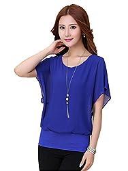 Top{(Choice Fashion_Blue_Mini_Georgette Women's Top)}