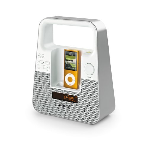 Memorex MI2601P TagAlong Portable Boombox for iPod and iPhone (White)