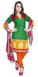 Kimisha Green Crepe Casual wear Printed Dress Material