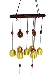 D4Ptl60 FENG SHUI WOODEN & METAL BALL WIND CHIME PIPES HANGING FOR POSITIVE ENERGY tl60