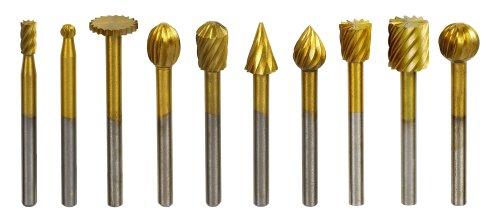 Gyros 10-Piece High Speed Steel Cutter Set – Titanium Nitride Coated ...